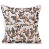 ROOHI - White Velvet Embroidered Cushion Cover - Set Of 2