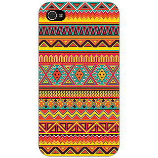 Enhance Your Phone Aztec Girly Tribal Back Cover Case For Apple iPhone 4 E10070