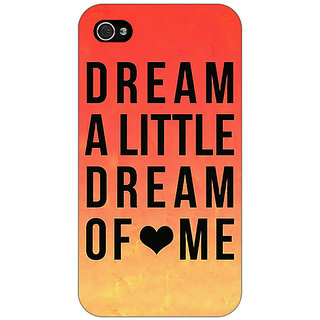 Enhance Your Phone Dream Love Back Cover Case For Apple iPhone 4 E10093