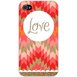 Enhance Your Phone Love Back Cover Case For Apple iPhone 4 E10096