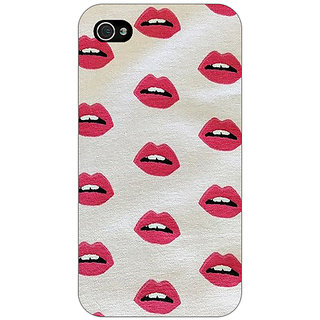 Enhance Your Phone Kiss Back Cover Case For Apple iPhone 4 E10099