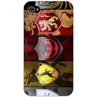 Enhance Your Phone Game Of Thrones GOT  Back Cover Case For Apple iPhone 4 E10119