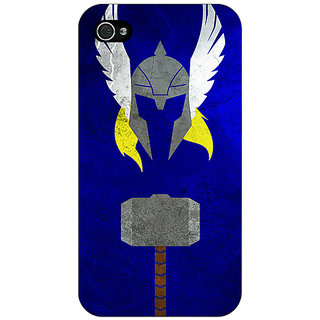 Enhance Your Phone Superheroes Thor Back Cover Case For Apple iPhone 4 E10338