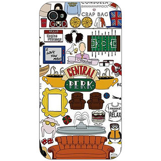 Enhance Your Phone TV Series FRIENDS Back Cover Case For Apple iPhone 4 E10342