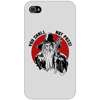 Enhance Your Phone LOTR Hobbit Gandalf Back Cover Case For Apple iPhone 4 E10361