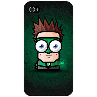 Enhance Your Phone Big Eyed Superheroes Green Lantern Back Cover Case For Apple iPhone 4 E10399
