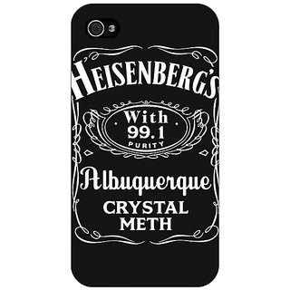 Enhance Your Phone Breaking Bad Heisenberg Back Cover Case For Apple iPhone 4 E10402