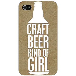 Enhance Your Phone Beer Quote Back Cover Case For Apple iPhone 4 E11219