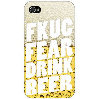 Enhance Your Phone Beer Quote Back Cover Case For Apple iPhone 4 E11229
