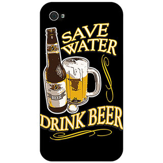 Enhance Your Phone Beer Quote Back Cover Case For Apple iPhone 4 E11235
