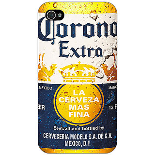 Enhance Your Phone Corona Beer Back Cover Case For Apple iPhone 4 E11238