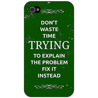 Enhance Your Phone SUITS Quotes Back Cover Case For Apple iPhone 4 E10487