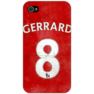 Enhance Your Phone Liverpool Gerrard Back Cover Case For Apple iPhone 4 E10546