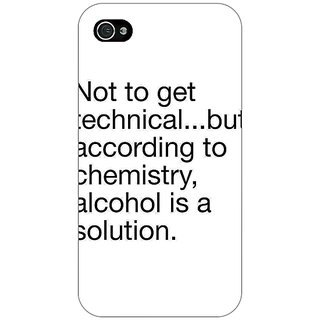Enhance Your Phone Alcohol Quote Back Cover Case For Apple iPhone 4 E11310