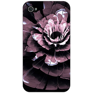 Enhance Your Phone Abstract Flower Pattern Back Cover Case For Apple iPhone 4 E11522