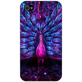 Enhance Your Phone Paisley Beautiful Peacock Back Cover Case For Apple iPhone 4 E11600