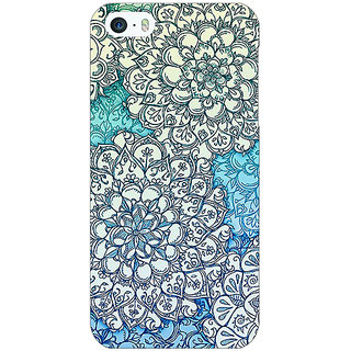 Enhance Your Phone Floral Blue Pattern Back Cover Case For Apple iPhone 5 E20228