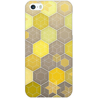 Enhance Your Phone Yellow Hexagons Pattern Back Cover Case For Apple iPhone 5 E20273