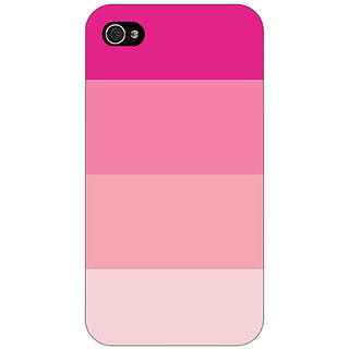Enhance Your Phone Pink Stripes Back Cover Case For Apple iPhone 4 E11147