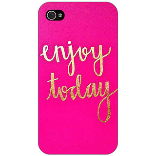 Enhance Your Phone QQQQ Back Cover Case For Apple iPhone 4 E11167