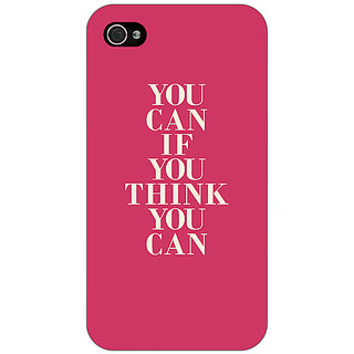 Enhance Your Phone Quotes Back Cover Case For Apple iPhone 4 E11193