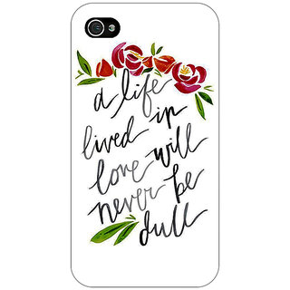 Enhance Your Phone Quotes Back Cover Case For Apple iPhone 4 E11195