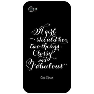Enhance Your Phone Quote Back Cover Case For Apple iPhone 4 E11409