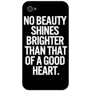 Enhance Your Phone Quote Back Cover Case For Apple iPhone 4 E11474
