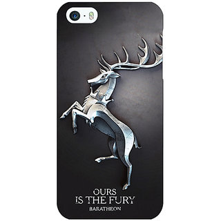 Enhance Your Phone Game Of Thrones GOT House Baratheon  Back Cover Case For Apple iPhone 5 E20169