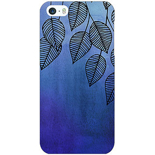 Enhance Your Phone Blue Leaves Pattern Back Cover Case For Apple iPhone 5c E30218