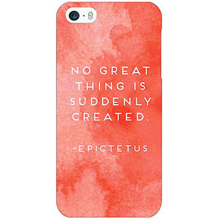 Enhance Your Phone Quotes Back Cover Case For Apple iPhone 5 E21200