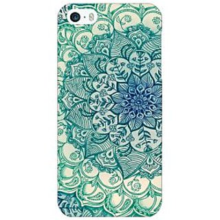 Enhance Your Phone Emerald Doodle Pattern Back Cover Case For Apple iPhone 5 E20216