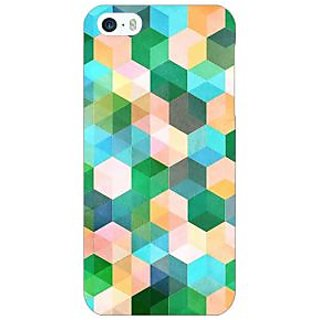 Enhance Your Phone Green Hexagons Pattern Back Cover Case For Apple iPhone 5c E30276