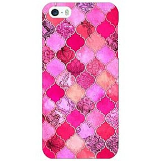 Enhance Your Phone Pink Moroccan Tiles Pattern Back Cover Case For Apple iPhone 5c E30288