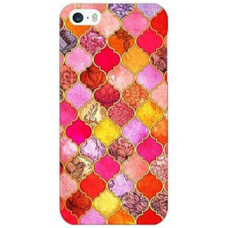 Enhance Your Phone Red Moroccan Tiles Pattern Back Cover Case For Apple iPhone 5c E30289