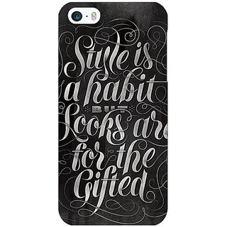 Enhance Your Phone COCO CHANEL Quote Back Cover Case For Apple iPhone 5c E31395