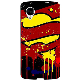 Enhance Your Phone Superheroes Superman Back Cover Case For Google Nexus 5 E40034