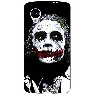 Enhance Your Phone Villain Joker Back Cover Case For Google Nexus 5 E40048