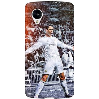 Enhance Your Phone Cristiano Ronaldo Real Madrid Back Cover Case For Google Nexus 5 E40306
