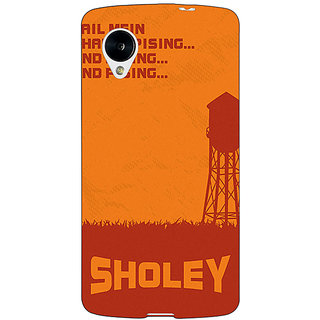 Enhance Your Phone Bollywood Superstar Sholay Back Cover Case For Google Nexus 5 E41125