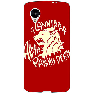 Enhance Your Phone Game Of Thrones GOT House Stark  Back Cover Case For Google Nexus 5 E40123