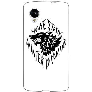 Enhance Your Phone Game Of Thrones GOT House Stark  Back Cover Case For Google Nexus 5 E40127