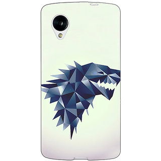 Enhance Your Phone Game Of Thrones GOT House Stark  Back Cover Case For Google Nexus 5 E40129