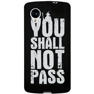 Enhance Your Phone LOTR Hobbit Gandalf Back Cover Case For Google Nexus 5 E40362