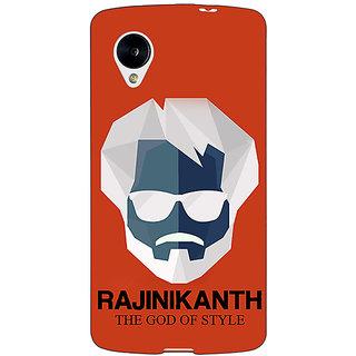 Enhance Your Phone Rajni Rajanikant Back Cover Case For Google Nexus 5 E41484
