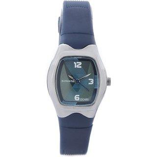 sonata contemporary dial blue watch p02