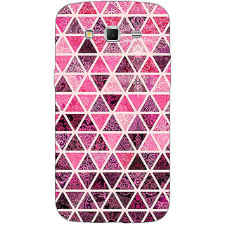 Enhance Your Phone Red Triangles Pattern Back Cover Case For Samsung Galaxy Grand 2 E70266