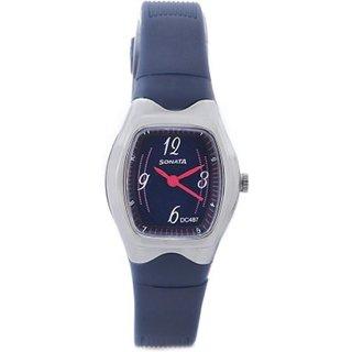 sonata contemporary dial N. blue watch p04