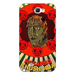 Enhance Your Phone Bollywood Superstar Mr. India Mogambo Back Cover Case For Samsung Galaxy Note 2 N7100 E81108