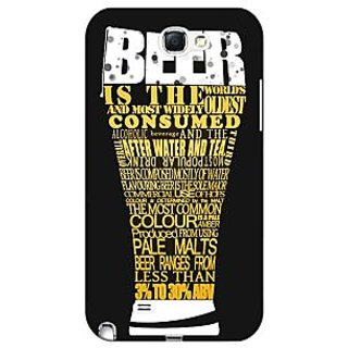 Enhance Your Phone Beer Quote Back Cover Case For Samsung Galaxy Note 2 N7100 E81227